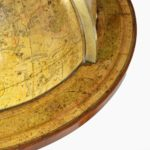 A pair of 20-inch floor globes by Newton and Sons details side