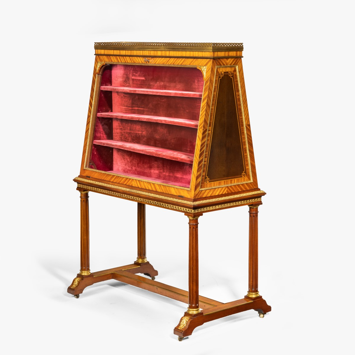 A rare and unusual French double-sided display cabinet by François Linke