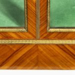 A Victorian kingwood display cabinet in French taste Closeup of bottom