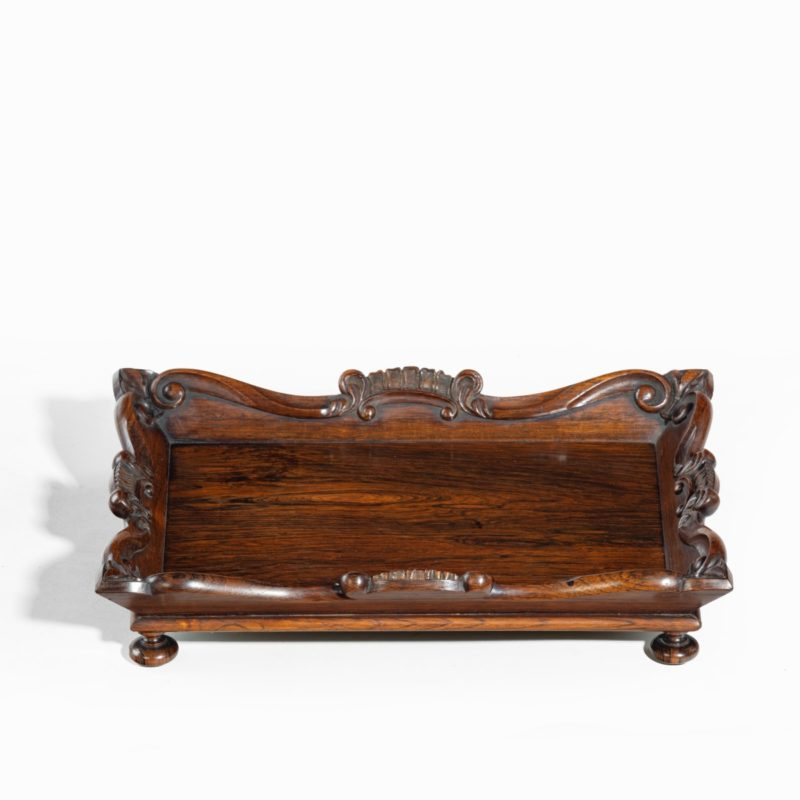 A William IV mahogany desk tidy attributed to Gillows