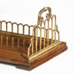 A Regency rosewood and gilt brass mounted book stand, attributed to Gillows details