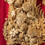 An exceptional carved lime and soft wood plaque by the carver James Peake details