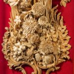 An exceptional carved lime and soft wood plaque by the carver James Peake