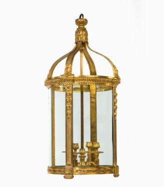 A French ormolu four-light lantern,
