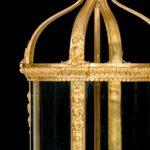 A French ormolu four-light lantern details