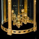 A French ormolu four-light lantern black