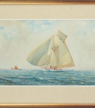 Herbert Walter Oake 'Susanne' racing off Cowes