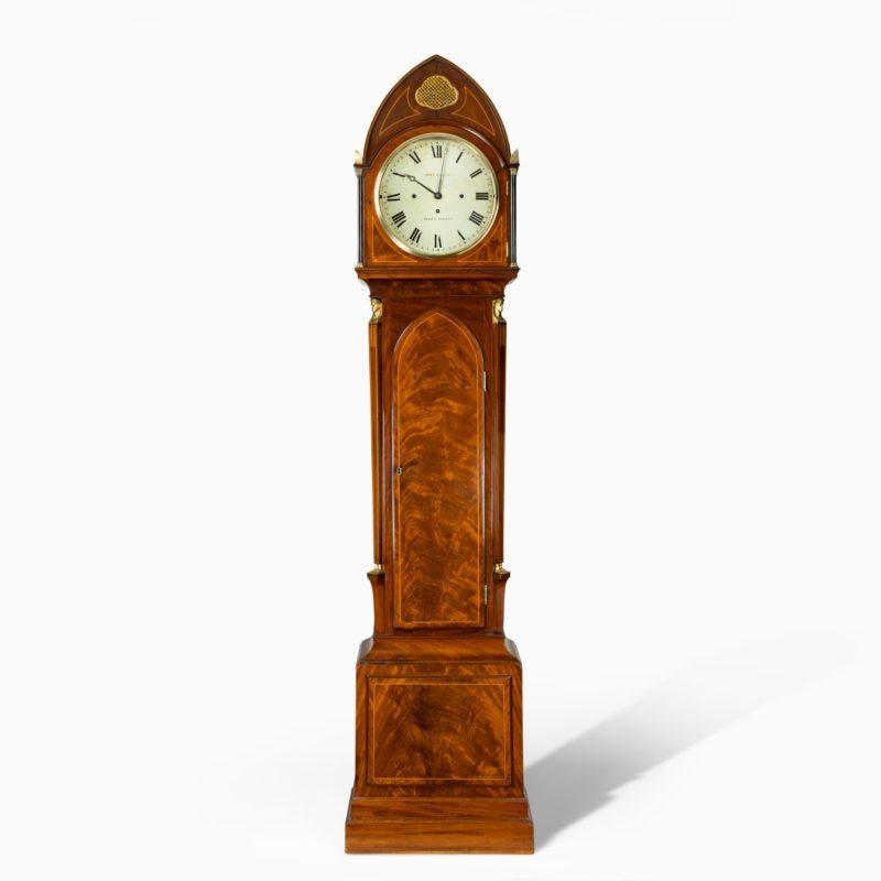 A good quality Regency 'Egyptian style' mahogany longcase clock by John Grant