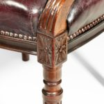 Two Edwardian mahogany chairs by Gill & Reigate detail