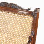 Regency mahogany bergère armchair detail