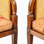 Regency mahogany bergère armchairs