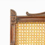 Regency mahogany bergère armchair top detail