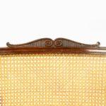 Regency mahogany bergère armchair details
