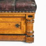 A Victorian walnut Ottoman detail