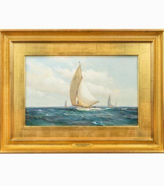 Montague Dawson: Racing Six-Metre yachts Main Image