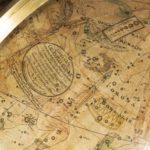 A pair of 12 inch table globes by Josiah Loring, dated 1844 and 1841 close up