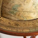 A pair of 12 inch table globes by Josiah Loring, dated 1844 and 1841 close
