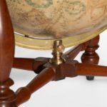A pair of 12 inch table globes by Josiah Loring 1844 and 1841
