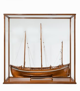 A Lugger lifeboat model by Twyman for the International Exhibition, London 1862.
