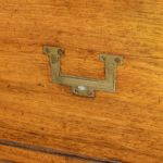 Anglo-Chinese hardwood naval officer's campaign chest handles