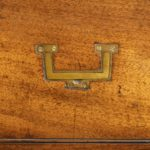 Anglo-Chinese hardwood naval officer's campaign chest handle