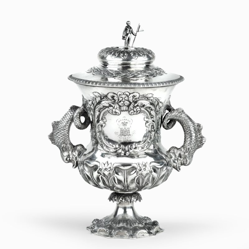 The Shannon Yacht Club silver racing trophy for 1859