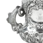 The Shannon Yacht Club silver racing trophy for 1859 handle details