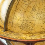 A rare pair of 9 inch table globes by Cary detail