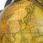 table globe by Cary close up
