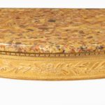 A Louis Philippe giltwood demi-lune console table detail