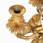 A pair of fine Napoleon III ormolu 5-branch candelabra details