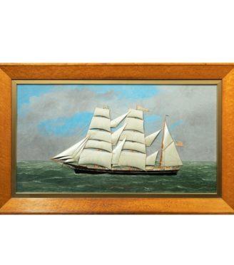 T. Willis: a mixed media ship's portrait of 'Eudora' of New York, 1900