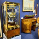 Decanters on display at The Chelsea Antiques Fair