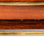 A kingwood marquetry envelope card table details